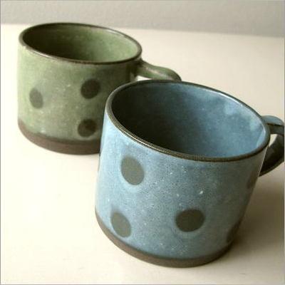 水玉マグカップ