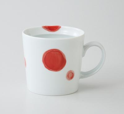波佐見焼丸紋マグカップ