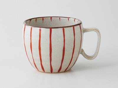 波佐見焼赤十草マグカップ