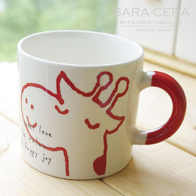 クリスマスレッドマグカップ