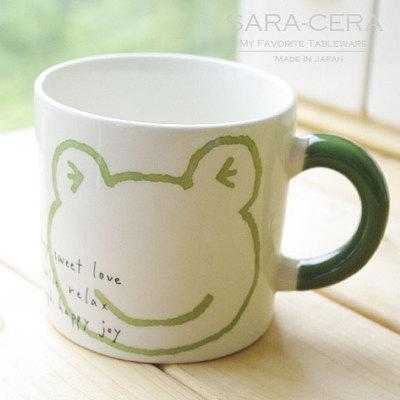 雨の日蛙マグカップ