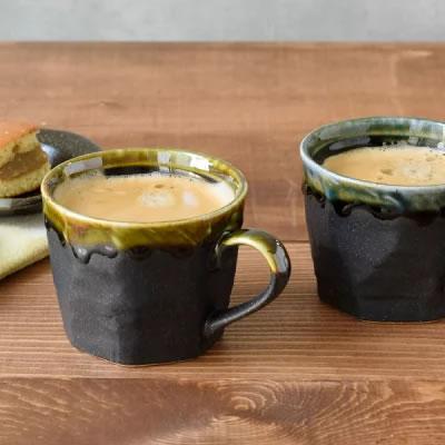 陶器コーヒーカップ