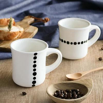 水玉ラインマグカップ
