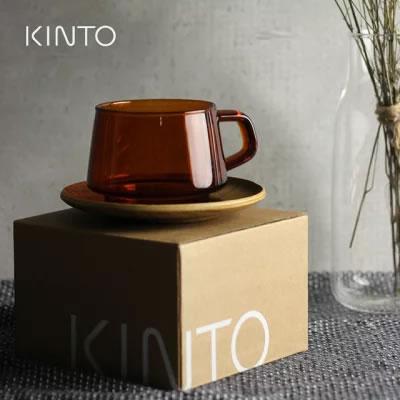 KINTO耐熱ガラス製カップ&ソーサー